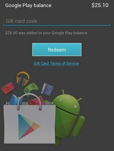 Google Play Gift Code Activation-Redeem
